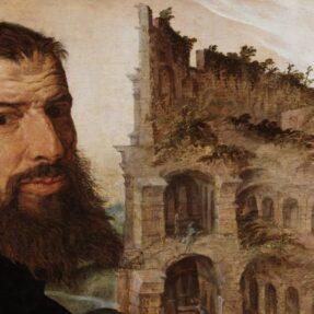 МАРТЕН ВАН ХЕМСКЕРК. АВТОПОРТРЕТ НА ФОНЕ КОЛИЗЕЯ В РИМЕ (1533 г)