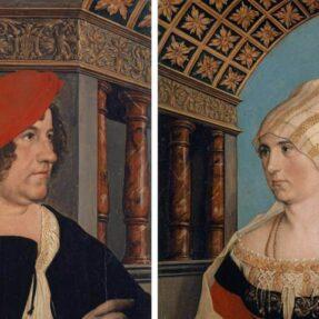 ГАНС ГОЛЬБЕЙН. ДВОЙНОЙ ПОРТРЕТ ЯКОБА МЕЙЕРА ЦУМ ХАСЕН И ЕГО СУПРУГИ ДОРОТЕИ КАННЕНГИССЕР (1516 г)